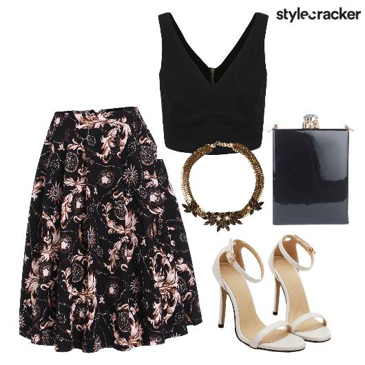 Cocktail Party  Black Floral  - StyleCracker