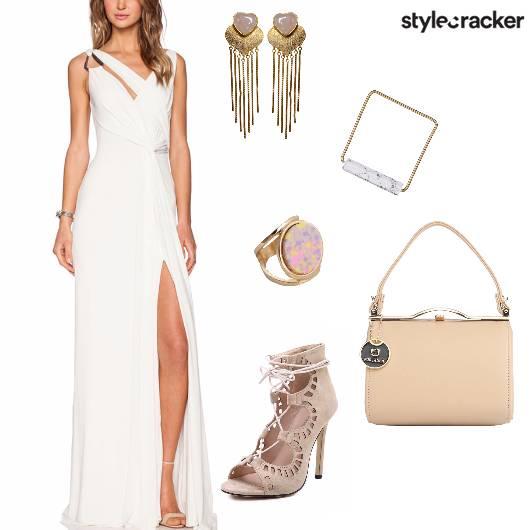 CutOut Slit Dress Night Party  - StyleCracker