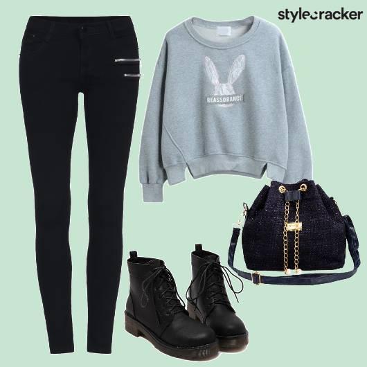 Black Pants Sweater Winter  - StyleCracker