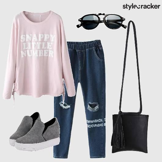 SweatT-shirt JoggerJeans WinterFashion DayWear College Casual - StyleCracker