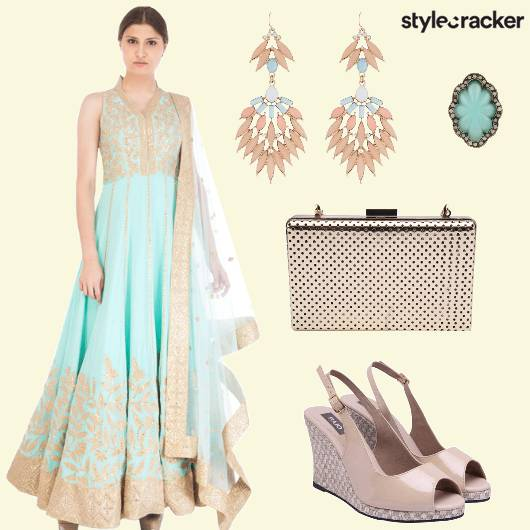 Anarkali Danglers Clutch Ring - StyleCracker