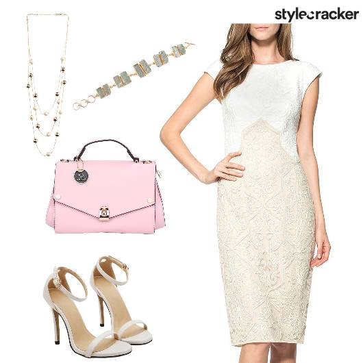 SelfEmbroidered CapSleevesDress LunchFromWork  - StyleCracker