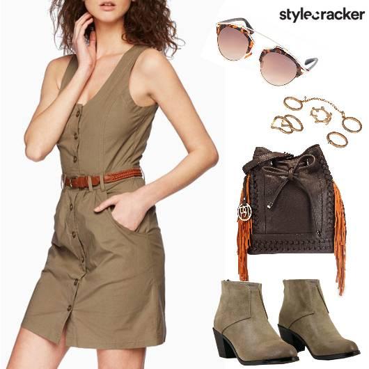 ButtonDownDress BucketBag - StyleCracker