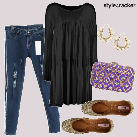 Indo Western Black Dress Jeans Jooties - StyleCracker