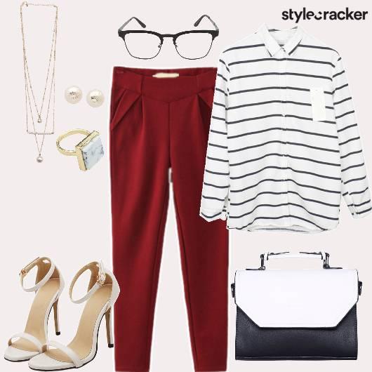 OfficeFormals StripedShirt PleatedPants  - StyleCracker