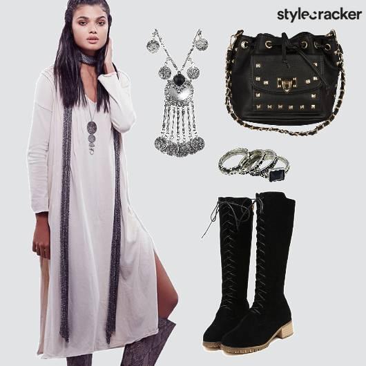 White Dress Comfy Vacation  - StyleCracker