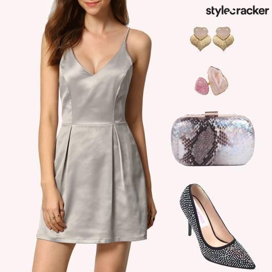 StrapyDress BoxPleates EmbellishedPumps - StyleCracker