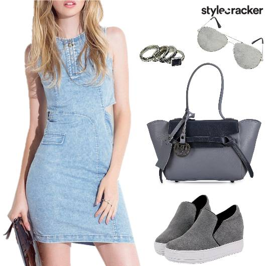 Casual DenimDress Keds Reflectors  - StyleCracker