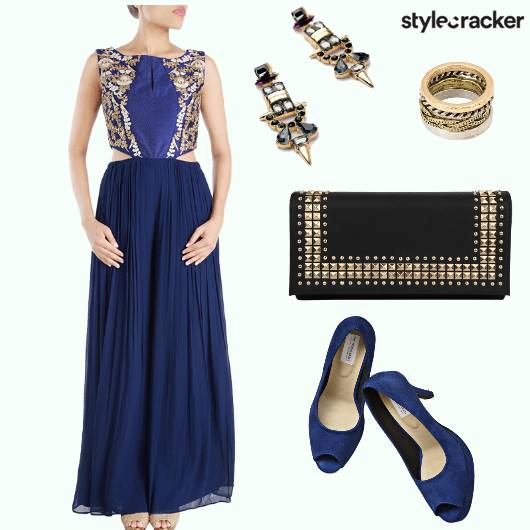 Jumpsuit Cutout Pleats Clutch Heels - StyleCracker