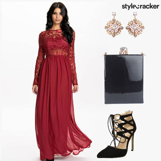 Lace Gown ValentinesDay Sling - StyleCracker