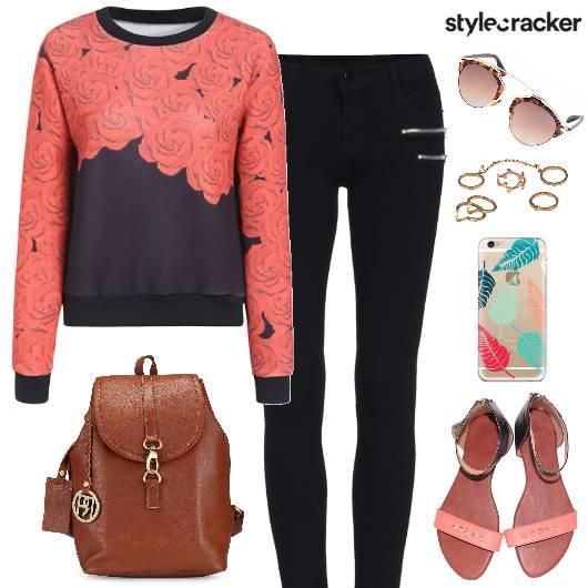 PrintedSweatshirt Jeggings Backpack PhoneCase - StyleCracker