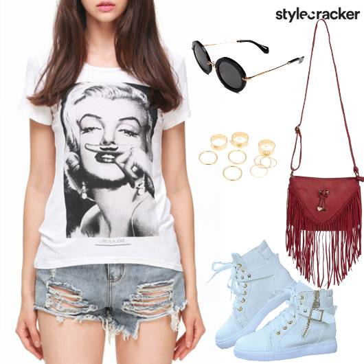 Casual BasicTee Shorts Sneakers  - StyleCracker