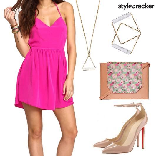Backless MiniDress PrintedSling  - StyleCracker