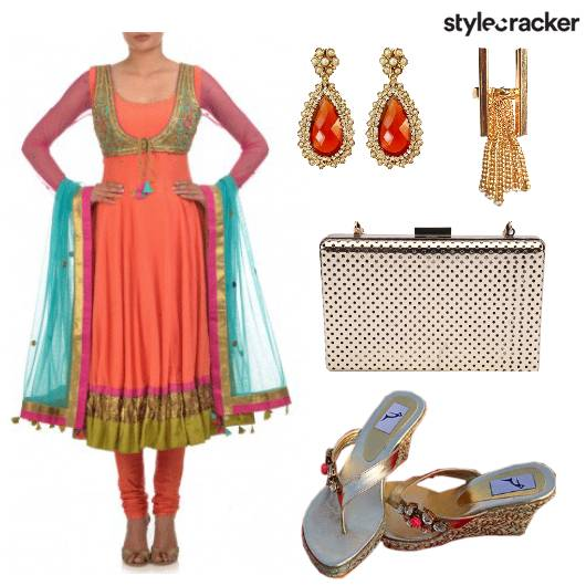 Anarkali Clutch Ring Wedges - StyleCracker