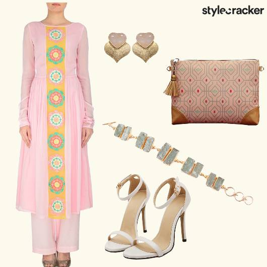 Anarkali Bracelet Heels Clutch  - StyleCracker
