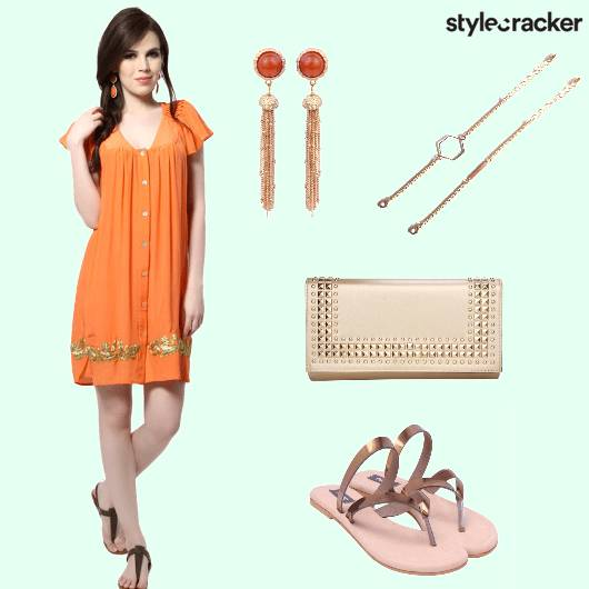 Contemporary Tunic Indian Clutch Flats - StyleCracker