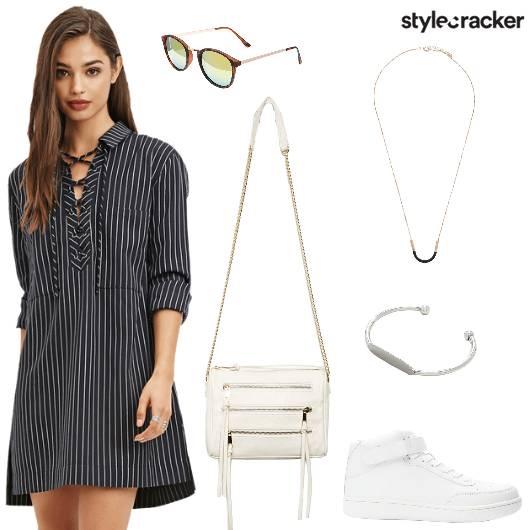 Sling Dress Cuff Neckpiece Sunglasses - StyleCracker