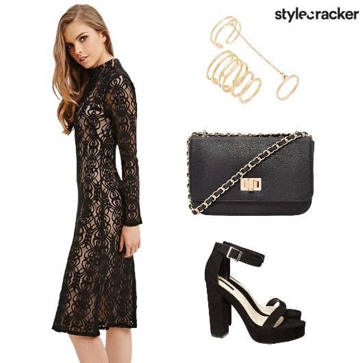 Lace Dress Heels Sling Ring - StyleCracker