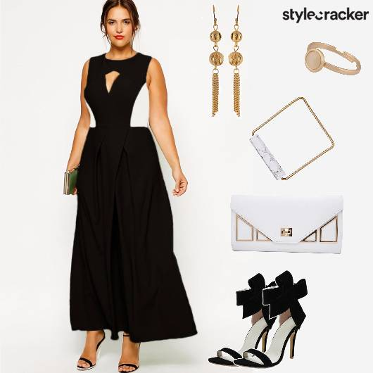Dress Flare Stilletos Clutch Party - StyleCracker