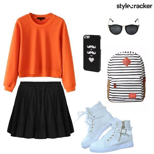 Sweater Skaterskirt Hightops Casual School - StyleCracker