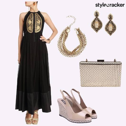 Wedges Clutch Earrings Anarkali - StyleCracker