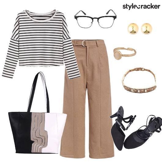 Stripe Top Pants DayWear WorkWear  - StyleCracker