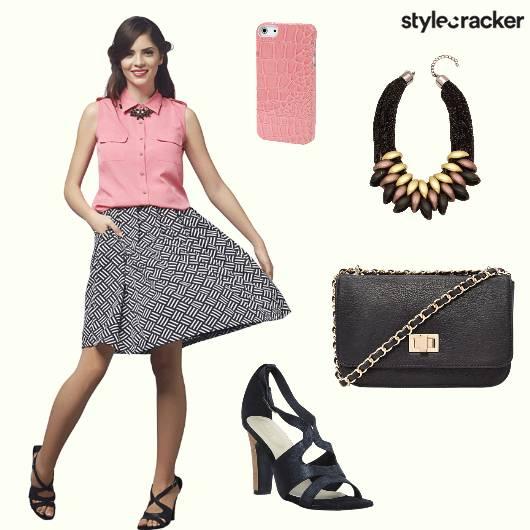 Skrit Shirt Heels Neckpiece - StyleCracker