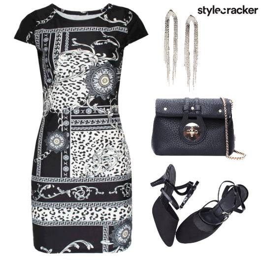 BodyCon Prints SlingBag StatementEarrings  - StyleCracker
