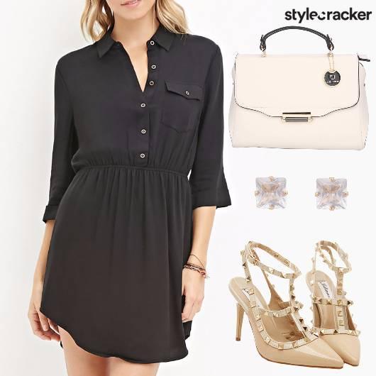 Black Dress Nude Work Wear  - StyleCracker