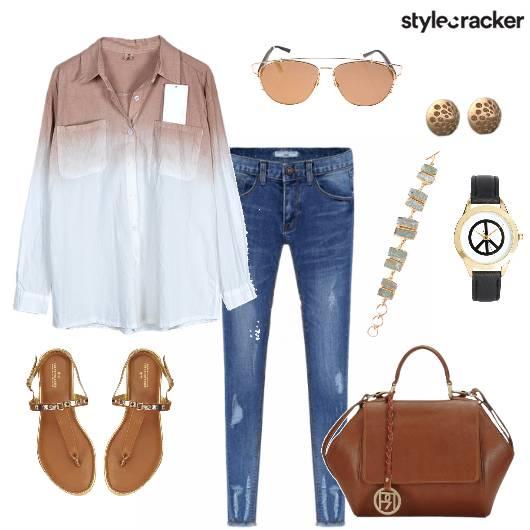 Ombre Shirt Jeans Casual DayWearWorkWear - StyleCracker