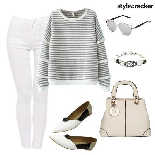 Stripe SweatShirt DayWear WinterFashion Casual  - StyleCracker