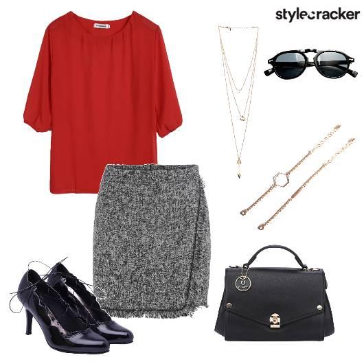 Pencilskirt TopHandbag Pumps Work - StyleCracker