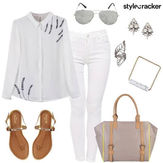 Shirt Jeans Work Wear Day Outfit - StyleCracker