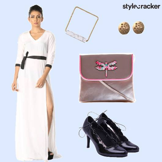 Slitdress Bag Heels Cuff - StyleCracker