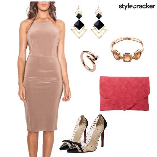 Bodycon HalterNeck Dress Party - StyleCracker