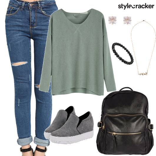 Sweat T-shirt Casual College Daywear - StyleCracker