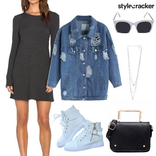 FullSleeves Dress Denim Jacket Casual  - StyleCracker