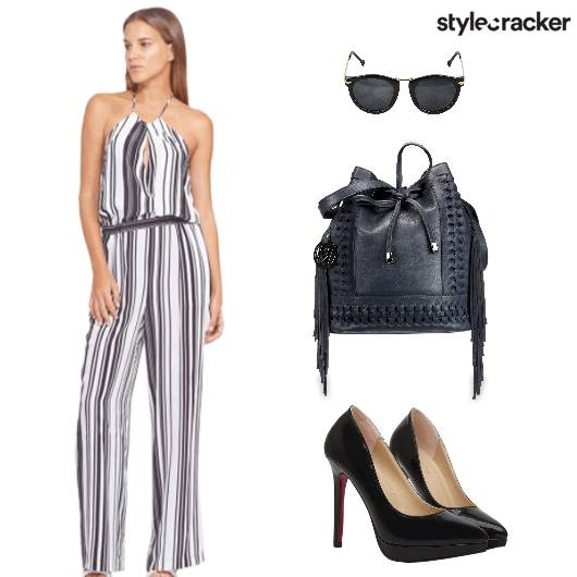 Jumpsuit Backpack Heels Sunglasses - StyleCracker