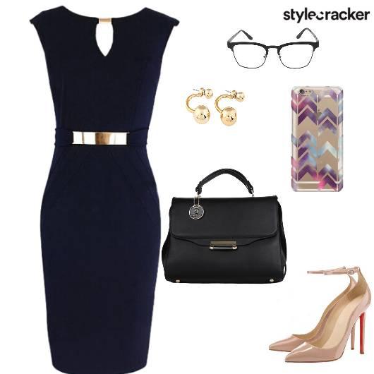 Bodycon Dress Pumps Handbag Work - StyleCracker