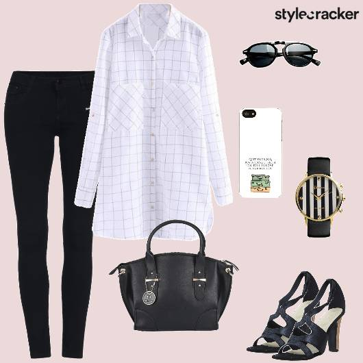 Shirt Jeans Heels Work  - StyleCracker