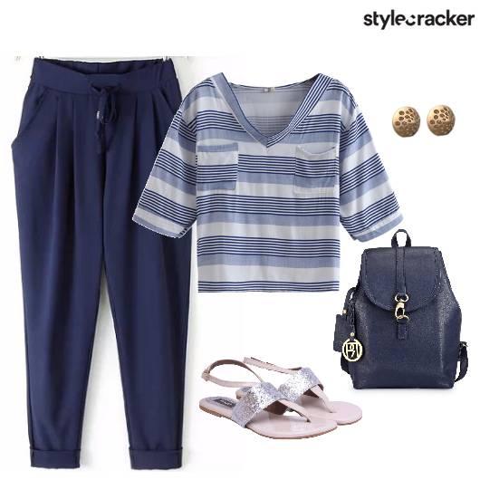 Casual Stripes DrawStringPants BackPack - StyleCracker