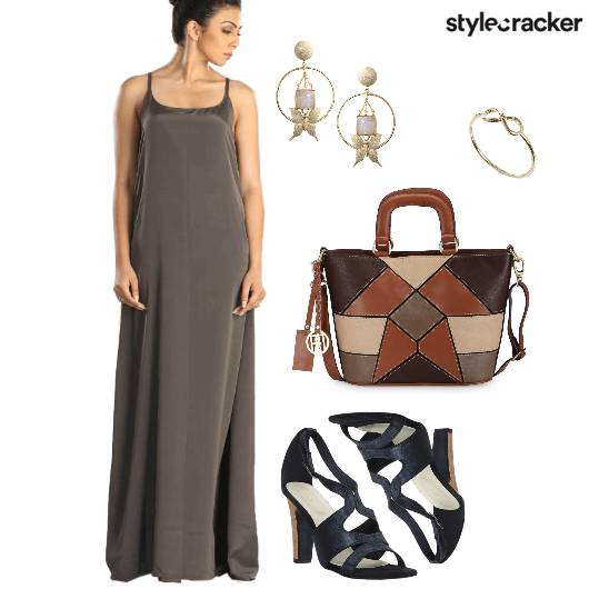 MaxiDress Tote StatementEarrings Shopping  - StyleCracker