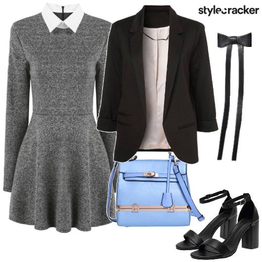 Work ContrastCollar Dress Blazer - StyleCracker