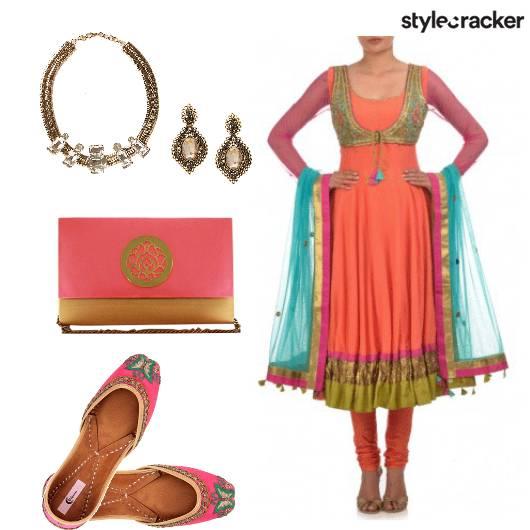 EthnicIndian Anarkali Juttis - StyleCracker