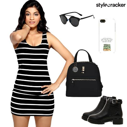 Striped Bodycondress Boots Backpack  - StyleCracker