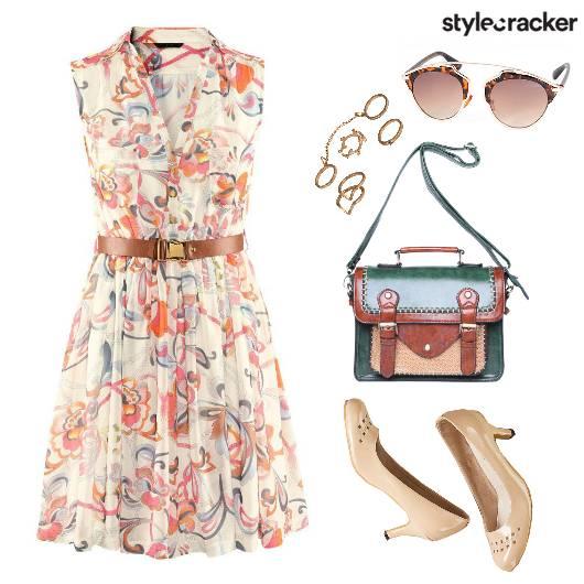 Day FloralDress VintageBag - StyleCracker