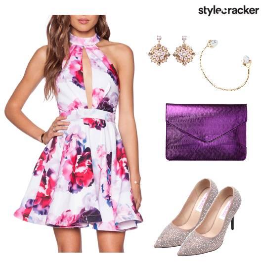 Romantic FloralDress EnvelopeClutch  - StyleCracker