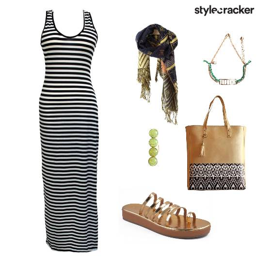 Outdoor CityTour StripedMaxi  - StyleCracker
