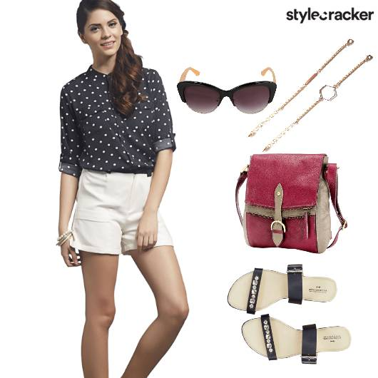 Casual Shirt Shorts CateyeSunglasses - StyleCracker