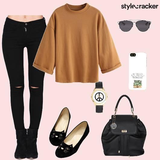 Sweater Jeans Backpack Casual - StyleCracker